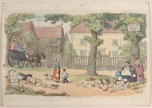 """Plate 32, from """"World in Miniature"""", 1816."""