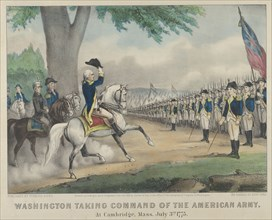 Washington Taking Command of the American Army - At Cambridge