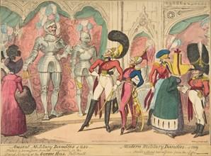 Ancient Military Dandies of 1450 - Modern Military Dandies of 1819