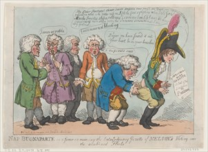 Nap Buonaparte in a Fever on Receiving the Extraordinary Gazette of Nelson's Victory Over the Combined Fleets
