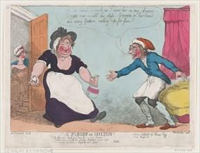 A Parody on Milton, 1807.