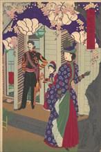 Blossoming Cherry Trees in Ueno Park (Ueno koen kaika zu), 1888.