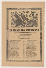 Broadsheet relating to the American Mosquito with verse critical of U.S. imperialism, 1903.