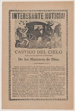 Broadsheet relating to the story of a falling meteor that was interpreted by Catholics as God's punishment to the people of the town of Alamos for their poor reception of Bishop Pedro Moreno, 1903.