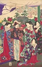 Emperor among Court Ladies, ca. 1880.