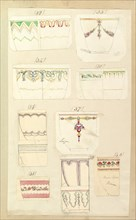 """Fourteen Designs for Decorated Cups, including """"Camden"""", Sevigne"""" and """"Persian"""" Patterns, 1852."""