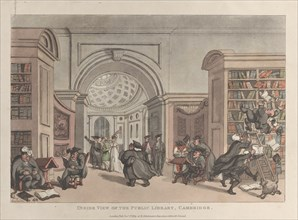 Inside View of the Public Library, Cambridge, November 9, 1809.