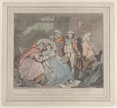 The Dying Patient, or Doctor's Last Fee, April 1, 1786.
