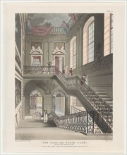 The Hall and Stair Case, British Museum, April 1, 1808.