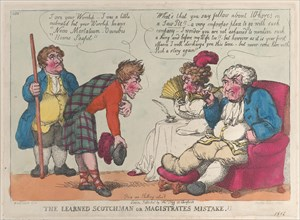 The Learned Scotchman or Magistrates Mistake.!!, 1812.