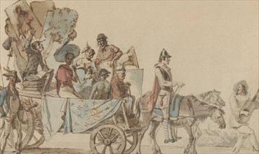 Theatrical Troupe on the Road, 1818.