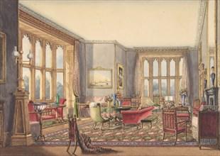 Drawing Room, Guys Cliffe, Warwickshire, 1860.