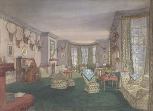 Drawing Room at Mar Lodge, Parish of Craithe and Braemar, Aberdeenshire, ca. 1860.
