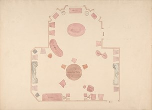 Plan of a Room, early 19th century.