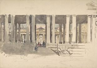 Greenwich Hospital (recto); Study of a Building (verso), ca. 1831.