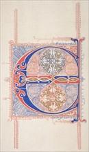 """Illuminated Initial """"C"""", 1830-62."""
