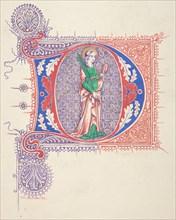 """Illuminated Initial """"D"""", 1830-62."""