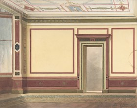 Dining Room Elevation in a Simplified Third Pompeian Style, ca. 1870-90.