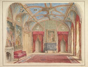 Design for the Decoration of the Drawing Room at Eastnor Castle, Hertfordshire, ca. 1850.