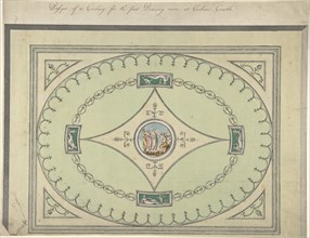 Design for a Ceiling for the First Drawing Room at Culzean Castle, Ayrshire, 1779-82.