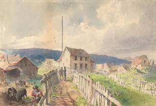 First Telegraph House at Heart's Content, Newfoundland, 1866, 1866.