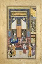 Interior Reception, Folio 36r from a Bustan of Sa'di, ca. 1525-35.