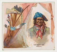 Geronimo, Apache, from the American Indian Chiefs series (N36) for Allen & Ginter Cigarettes, 1888.