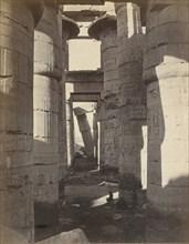 Haute-Egypt, Salle Hypostyle à Karnak, ca. 1870.