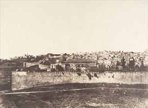 Jérusalem, Enceinte du Temple, Vue générale de la face Est, Pl. 1, 1854.