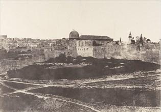 Jérusalem, Enceinte du Temple, Vue générale de la face Sud 1, 1854.