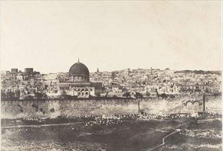 Jérusalem, Enceinte du Temple, Vue générale de la face Est, Pl. 2, 1854.