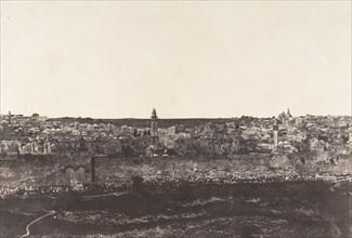 Jérusalem, Enceinte du Temple, Vue générale de la face Est, Pl. 3, 1854.