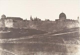 Jérusalem, Enceinte du Temple, Vue générale de la face Sud 2, 1854.
