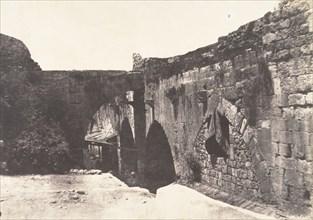 Jérusalem, Enceinte de l'Hopital des Chevaliers-de-Saint-Jean, Côté Sud, 1854.