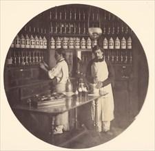 Asile Impériale de Vincennes, la pharmacie, 1858-59.