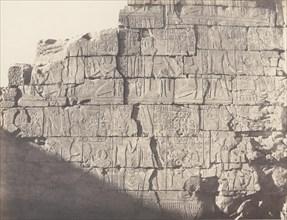 Karnak (Thèbes), Palais - Salle Hypostyle - Décoration de la Paroi Intérieure au Point M, 1851-52, printed 1853-54.
