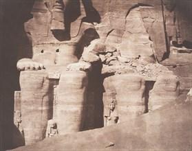 Abo-Sembil, Grand Spéos, Statues Colossales vues de Face (Parte Inférieure), 1851-52.