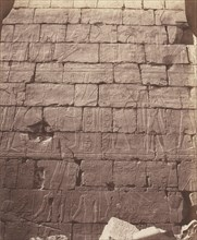 Karnak (Thèbes), Palais - Salle Hypostyle - Décoration de la Paroi Intérieure au Point L, 1851-52, printed 1853-54.