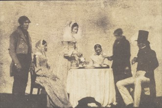 Group Taking Tea at Lacock Abbey, August 17, 1843.