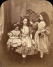 Flora Rankin, Irene MacDonald, and Mary Josephine MacDonald at Elm Lodge, July 1863