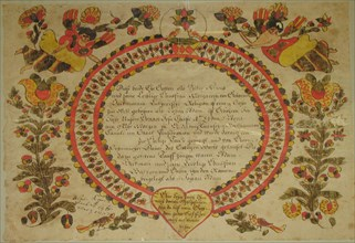Birth and Baptismal Certificate, 1784.