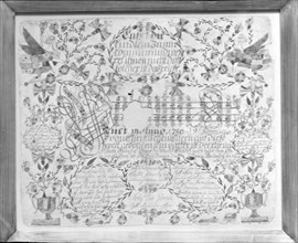 Birth and Baptismal Certificate, 1780.