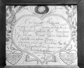 Birth, Baptismal, and Marriage Certificate, 1819.