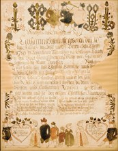 Birth and Baptismal Certificate, 1789.