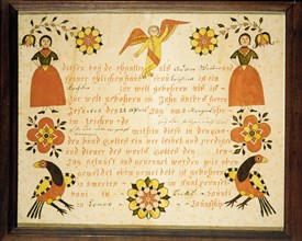 Birth and Baptismal Certificate, 1802.