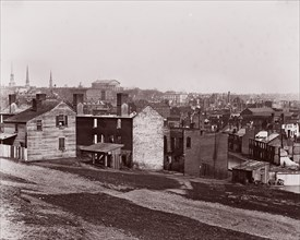Richmond after the Evacuation, 1865. Formerly attributed to Mathew B. Brady.