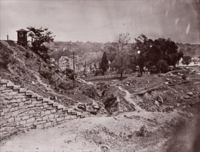 Ruins of R & P Railroad Bridge, Richmond, ca. 1865. Formerly attributed to Mathew B. Brady.