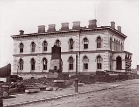 Custom House, Richmond, Virginia (after evacuation), 1861-65. Formerly attributed to Mathew B. Brady.