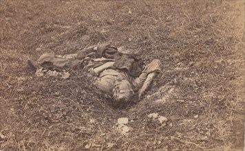 Confederate Soldier [on the Battlefield at Antietam], September 1862.