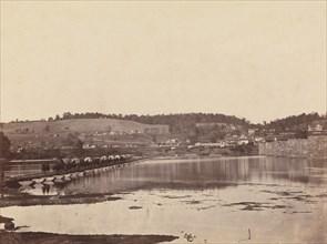 Pontoon Bridge Across the Potomac, Berlin, October 1862, 1862.